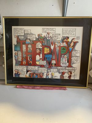 THERAPY COMIC frame form PeterPrints for Sale in Woodland, CA