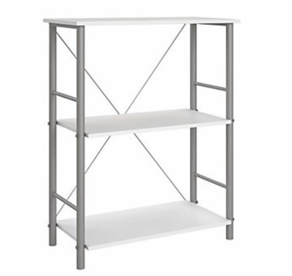 White 3 Shelf Bookcase