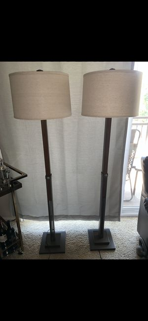 Adjustable height floor lamps (need gone ASAP) for Sale in Sacramento, CA
