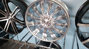 "24"" 5x115/120 CHROME RIMS IN STOCK CALL OR MESSEGE FOR PRICE for Sale in Portland, OR"