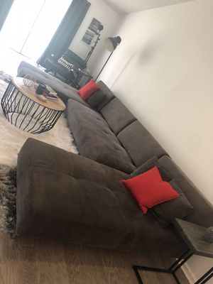 Gray Modern Custom Sectional Sofa for Sale in Dunedin, FL