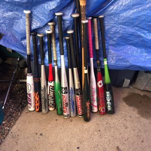 15 baseball bats for Sale in Costa Mesa, CA