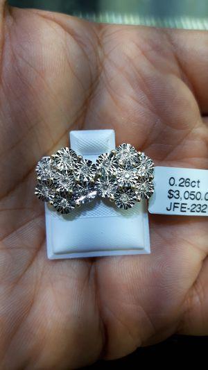 14k gold diamond flowers earnings size for Sale in Los Angeles, CA