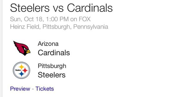 Steelers vs Cardinals