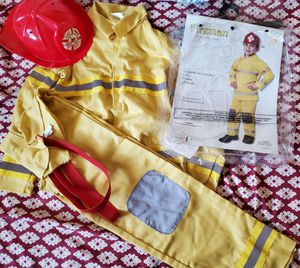 Fireman Halloween costume child 7-10 yrs old for Sale in San Diego, CA