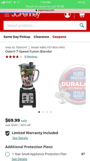 Oster Fuusion Blender for Sale in Aspen Hill, MD