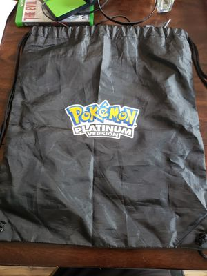 Rare Pokemon platinum drawstring bag for Sale in Zephyrhills, FL