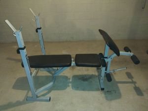 Weight bench, free weights and pull-up station for Sale in Kennesaw, GA