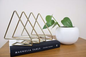 MCM | Slide On Shelf Geometric Book Dividers | 4 for Sale in Seattle, WA