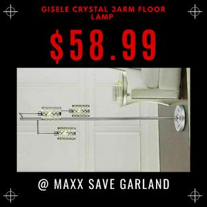 Gisele crystal 3ARM floor lamp for Sale in Garland, TX