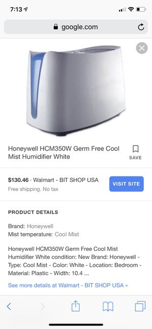 Honeywell Mist Humidifier Brand New for Sale in Fresno, CA