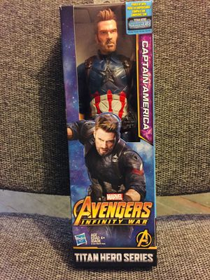 MARVEL 12 inches CAPTAIN AMERICA INFINITY WAR SERIES ACTION FIGURE BRAND NEW for Sale in Bayonne, NJ