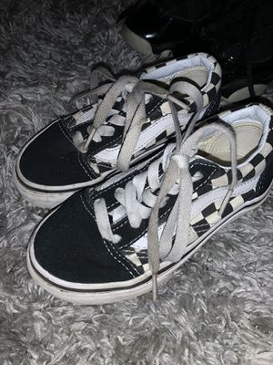 Low top vans - kids 10.5 used for Sale in San Jose, CA