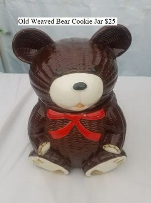 Old Weaved Bear Cookie Jar $25 for Sale in Dresden, OH