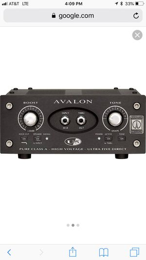 Avalon U5, Pre amp. Audio recording pro studio for Sale in San Francisco, CA