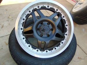 Brand New 20X9 GEAR ALLOY Black/Machined Rims *6X5.5*CHEVY* for Sale in Aurora, CO