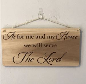 Serve The Lord Hand Burned Wood Sign for Sale in Lester, WV