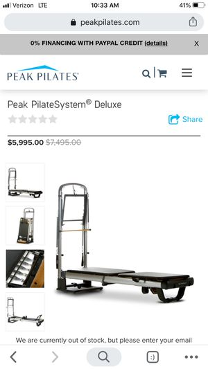 Peak Pilates PilateSystem Deluxe Reformer for Sale in Bellevue, WA