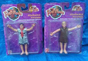 1993 Flintstones The Movie MOC MIP Bendable Figure Lot Fred Barney Rubble Mattel VTG for Sale in Pasadena, CA