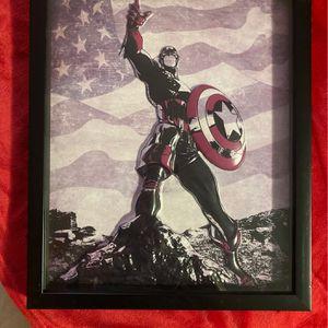 "Captian America; 3D Framed Poster 15"" X 12"" for Sale in Miami, FL"