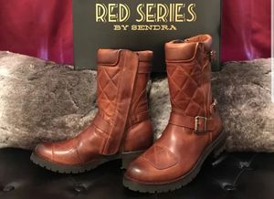 LEATHER MOTORCYCLE BOOTS; HANDMADE by Sendra for Sale in Herndon, VA