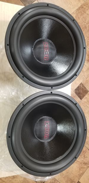 """Zcon 18"""" SUBWOOFERS for Sale in Las Vegas, NV"""