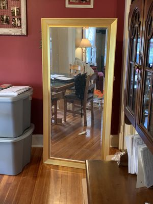 """Gold Floor Mirror 66"""" x 32"""" for Sale in Schenectady, NY"""
