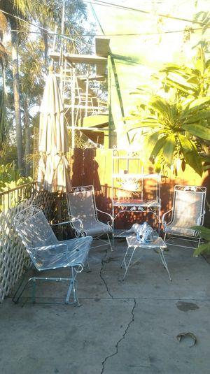 Patio set 5 pieces original color green for Sale in Orange, CA