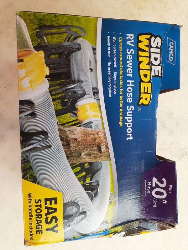 20ft Sidewinder RV Sewer Hose Support Travel Trailer Camper Drain Line Plastic