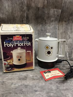 Vintage PolyHot Pot Electric 1-5 Cup Hot Water for Sale in Danville, VA