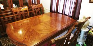 Very nice heavy ALL WOOD dining table and China cabinet for Sale in St. Louis, MO