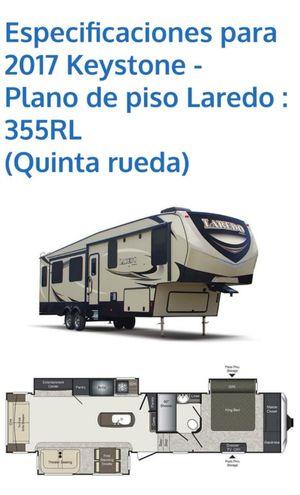 Rv trailer camper 2017 keystone 355RL fifth wheel for Sale in Haines City, FL