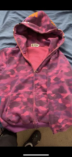Purple bape hoodie for Sale in Germantown, MD