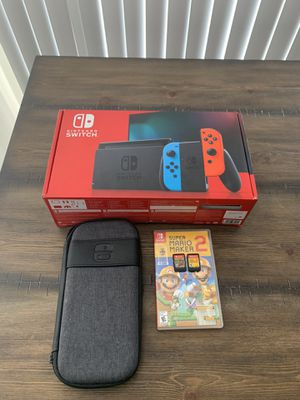 Nintendo Switch with All Accessories Included and Two Games for Sale in San Francisco, CA
