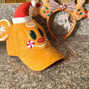 Disney Gingerbread Man Ear Headband and Gingerbread Man Holiday hat for Sale in Huntington Beach, CA