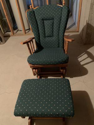 Oak Glider Rocking Chair & Ottoman for Sale in Comstock Park, MI