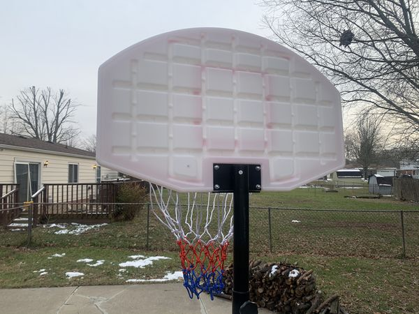 Kids Portable Height-Adjustable Sports Basketball Hoop Backboard System Stand w/ Wheels - Black