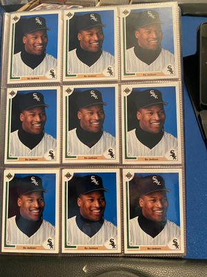 Bo Jackson 1991 UD (26) cards, Nolan Ryan/Rickey Henderson record breaker card, Bernie Williams and Mike Mussina rookie cards and more for Sale in Pinellas Park, FL