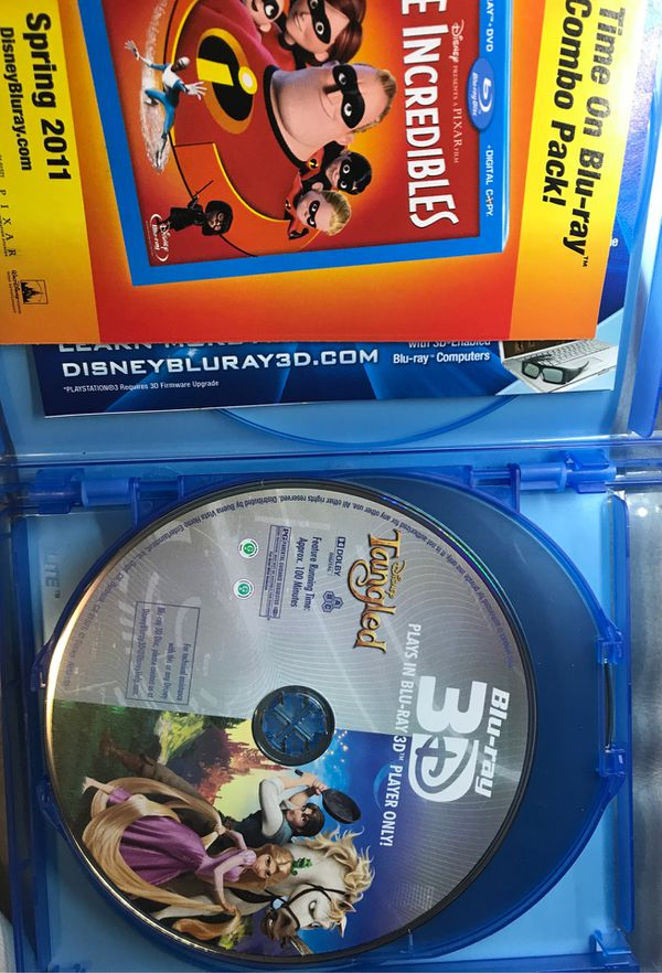 Disney's Tangled 3D Blu-ray DVD
