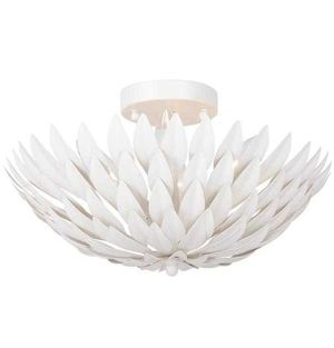 Crystorama Broche Ceiling Mount - White CRYSTORAMA Light fixture for Sale in Detroit, MI