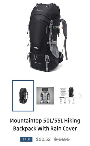 Hiking Backpack 55l - Available in two colors black and blue for Sale in Jersey City, NJ