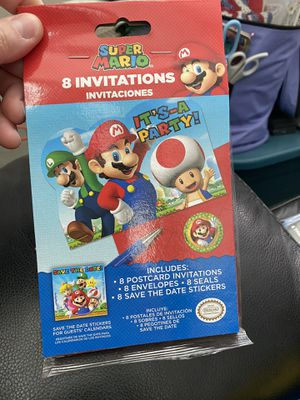 New Super Mario Party Invitations! for Sale in Pittsburg, CA