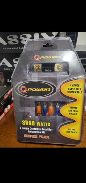 4 GAUGE AMP INSTALLATION KIT for Sale in The Bronx, NY