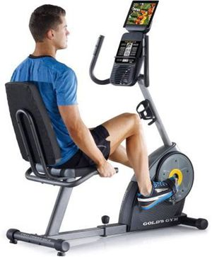 I never have seen a price this low on our NEW IN BOX - Golds Gym Recumbent Recline Exercise Bike. for Sale in Palos Verdes Estates, CA