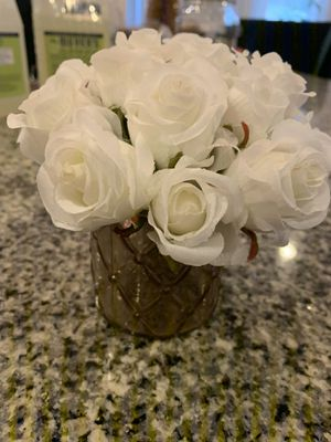 Mini rose bouquet and decorative cup/candle holder for Sale in Charlotte, NC