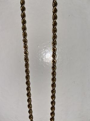 Solid 14k Gold Rope Chain with Pendent for Sale in South El Monte, CA