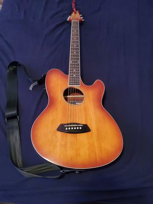 Talman acustic electric guitar with Kapo for Sale in Los Angeles, CA
