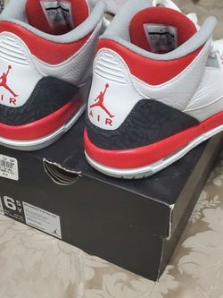 Size 6.5Y Fire Red 3s 2013 No Flaws for Sale in Miami,  FL