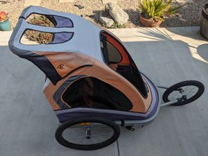 Jogging Stroller and Bike trailer by ViaVelo (Montalban) with two new inner tubes included for Sale in Chino, CA