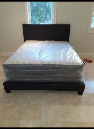 BED,MATTRESS AND BOX SPRING BRAND NEW! for Sale in Pembroke Pines, FL